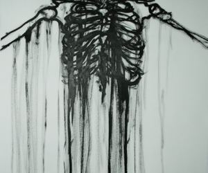 background, white, and black image