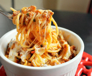 food, delicious, and pasta image