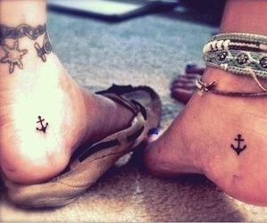 anchors, feet, and girl image