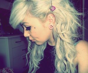 alternative, Piercings, and blonde image