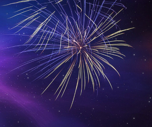 background, firework, and fun image