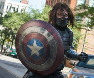 captain america, bucky barnes, and Marvel image