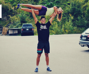 couple, fitness, and sport image