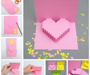 diy, card, and heart image