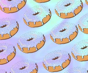 background, donuts, and wallpaper image