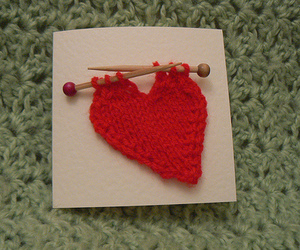 heart and knitting image