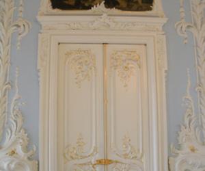 door, pastel, and gold image
