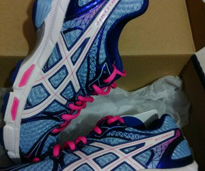 asics, blue, and fitness image