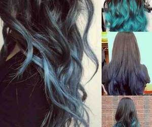 blue, ombre, and green image