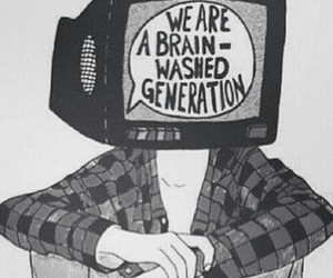 generation, grunge, and tv image