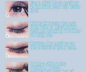 eyeliner, face, and girl image