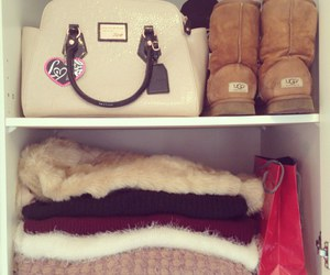 uggs, bag, and clothes image