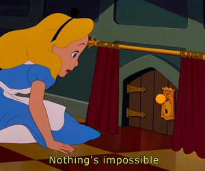 alice in the wonderland, impossible, and nothing image