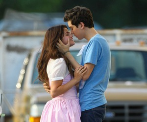 couple, kiss, and nat wolff image