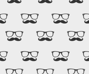 wallpaper, mustache, and glasses image