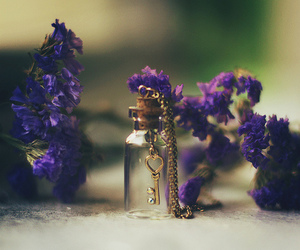 key and flowers image
