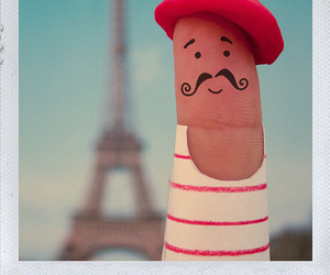 paris, fingers, and mustache image