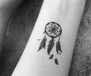 tattoo, dreamcatcher, and dream catcher image