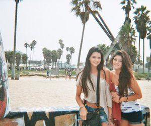 kendall jenner, beach, and kylie jenner image