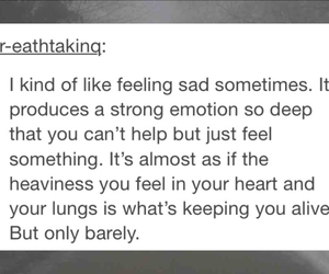 alive, deep, and depressed image