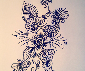 design, flowers, and henna image