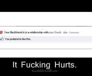 hurt, crush, and bestfriend image