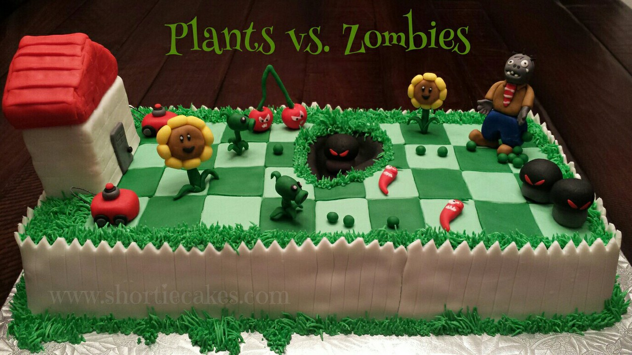 Surprising Plants Vs Zombie Birthday Cake On We Heart It Birthday Cards Printable Opercafe Filternl