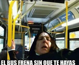 bus, snape, and harry potter image