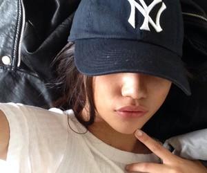 girl, tumblr, and cap image