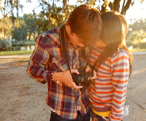 couple, camera, and boy image