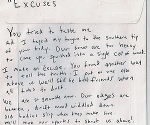 excuse, text, and Lyrics image