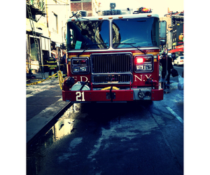 firetruck and nyc image