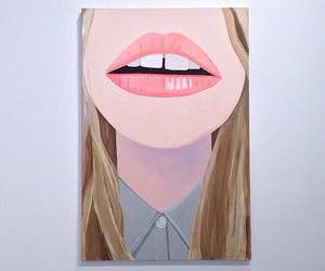 girl, illustration, and lips image