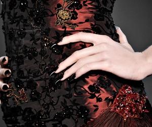 fashion, black, and gothic image