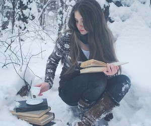 books, perfect, and girl image