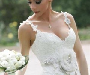 bride, hair, and flower image
