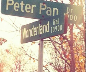wonderland, peter pan, and disney image