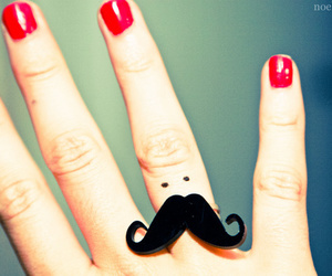 cute, mustache, and moustache image