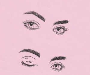 pink, eyes, and flirt image