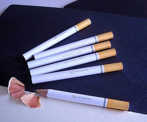 pencil, cigarette, and cool image