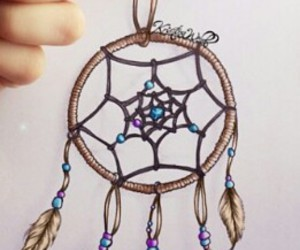 drawing, dream catcher, and dreams image