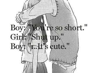 boy, girl, and shutup image