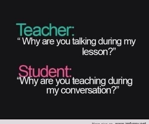 teacher, funny, and student image