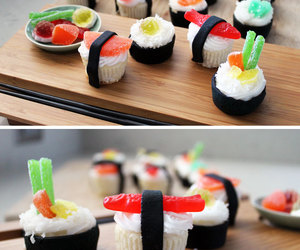 candy, colorful, and cupcakes image
