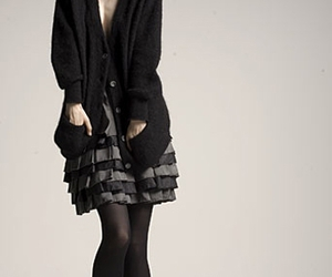 cardigan, clothes, and dress image