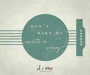 song, if i stay, and book image