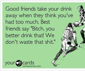 best friends, drink, and alcohol image