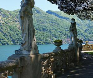 garden, lake como, and italy image