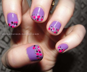 dots, lilac, and pretty image