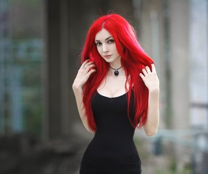 girl, redhead, and red hair image